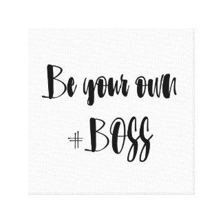 Toile Soyez votre propre patron