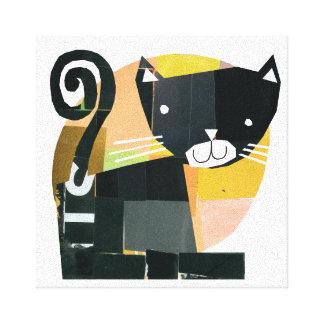 Toile Spectres de chat noir