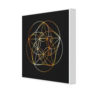 Toile Spirale de Fibonacci la géométrie sacrée