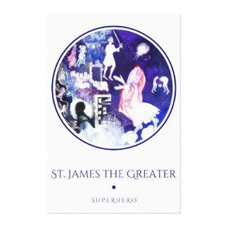 Toile St James la Grand-Légende au sujet du saint Jacob