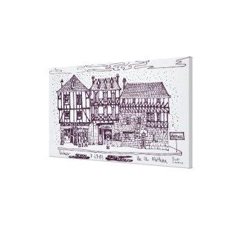 Toile St Mathieu de rue d'architecture | Quimper, la