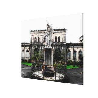 Toile Statue Victor Schoelcher en Martinique