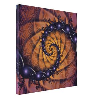 Toile Stingers 1001 en spirale de la fractale d'un