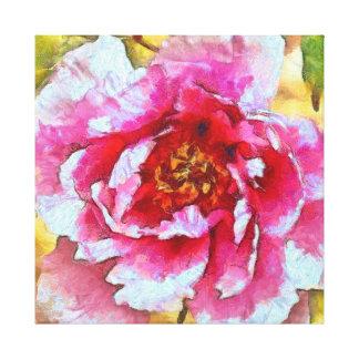 Toile Style rose de Van Gogh de pivoine