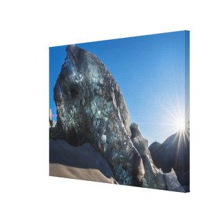 Toile Sunbeam et glace, Islande