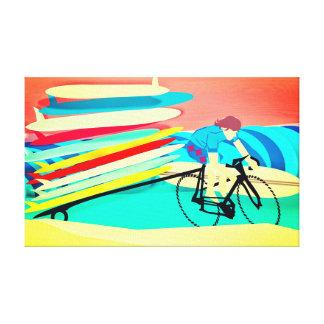 Toile Surfer sur les planches de surf de transport de