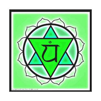 Toile Symbole de Chakra de coeur