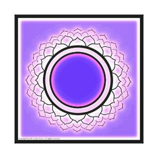 Toile Symbole de Chakra de couronne