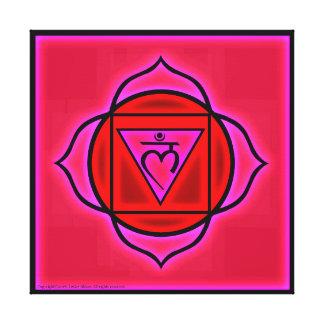 Toile Symbole de Chakra de racine
