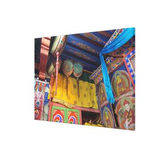 Toile Tambours à l'intérieur d'un temple