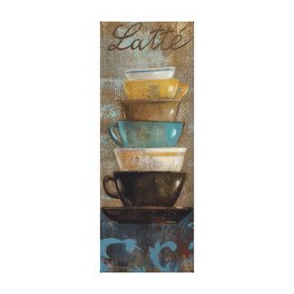 Toile Tasses de café empilées