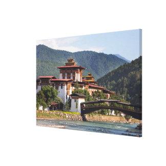 Toile Temple bouddhiste par la rivière
