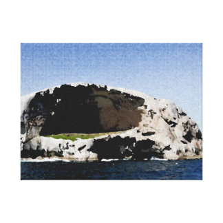 Toile tendue océan rochers