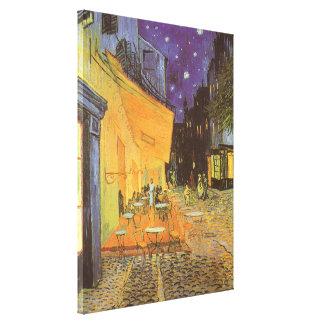 Toile Terrasse de café la nuit par Vincent van Gogh