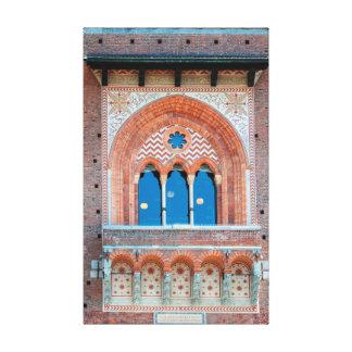 Toile Terre d'architecture de l'Italie Milan de fenêtre