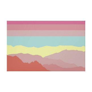 Toile Terre de couleur