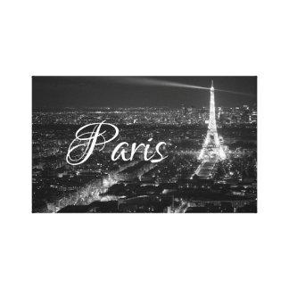 Toile Texte noir et blanc de Paris