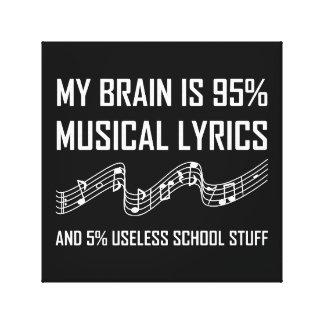Toile Textes musicaux de cerveau drôles