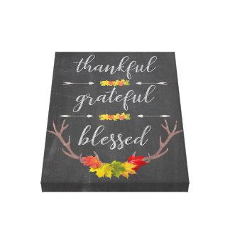 Toile Thanksgiving reconnaissant béni reconnaissant