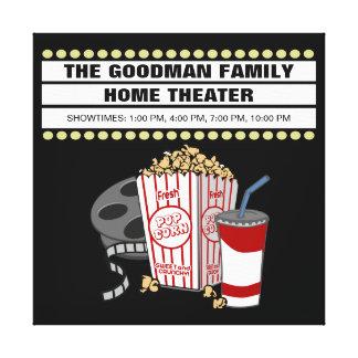 Toile Théâtre de home cinéma personnalisé de famille