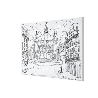 Toile Théatre de l'opéra | Paris, France de Palais