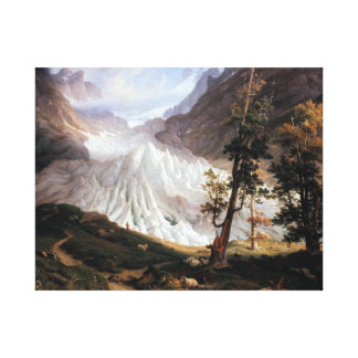 Toile Thomas Fearnley le Grindelwaldgletscher
