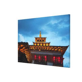 Toile Toit bouddhiste de Dzong