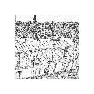 Toile Toits du 10ème tour montparnasse, les invalides pa