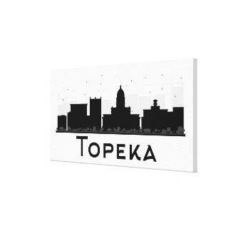 Toile Topeka, le Kansas horizon noir et blanc de | de