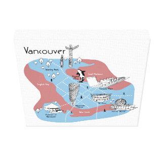 Toile Traçant Vancouver - original