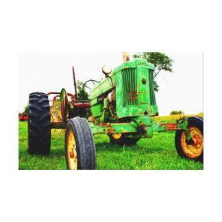 Toile Tracteur de vieille école