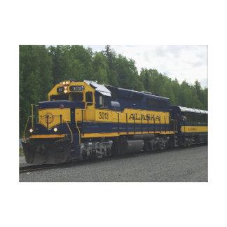 Toile Train d'Alaska