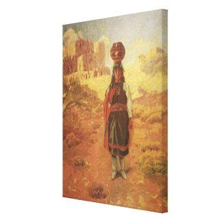 Toile Transporteur d'eau indien vintage par EW Rollins
