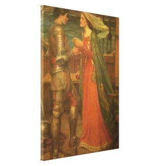 Toile Tristan et Isolde par le château d'eau, beaux-arts