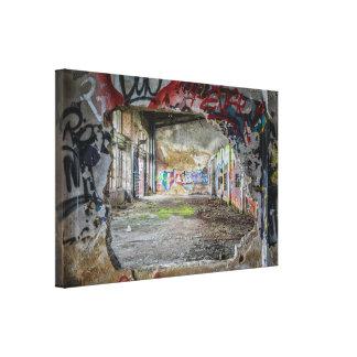 Toile Trou de construction abandonné dans l'art de