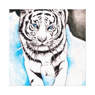 Toile Truie blanche de tigre sibérien
