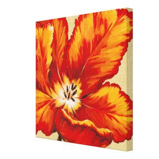 Toile Tulipe de perroquet I