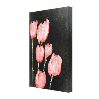 Toile Tulipe rose
