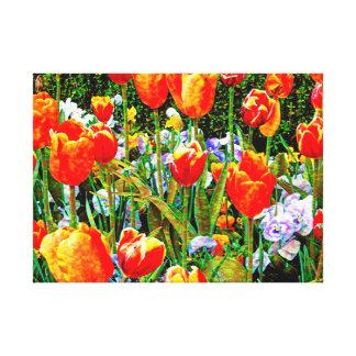 Toile Tulipes