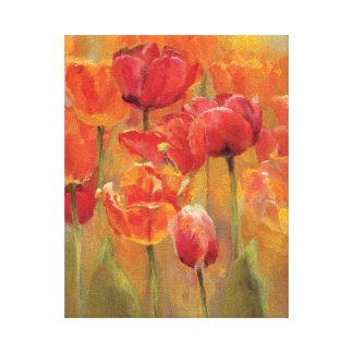 Toile Tulipes au milieu