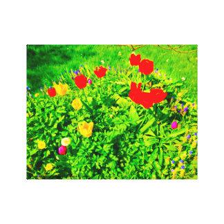 Toile Tulipes de jardin d'agrément II