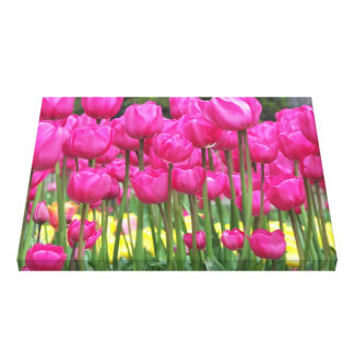Toile Tulipes roses florales