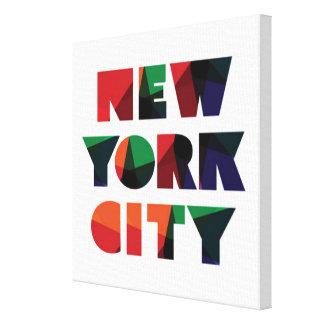 Toile Typographie audacieuse de New York City  