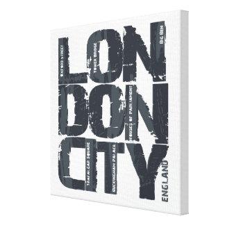 Toile Typographie de Londres, Angleterre