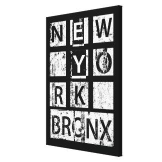Toile Typographie grunge de Bronx New York  