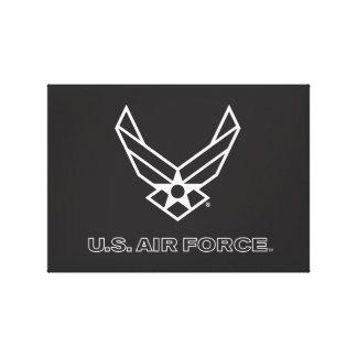 Toile U.S. Logo de l'Armée de l'Air - noir