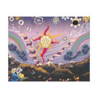 Toile Un coucher du soleil Starscape - copie de montagne