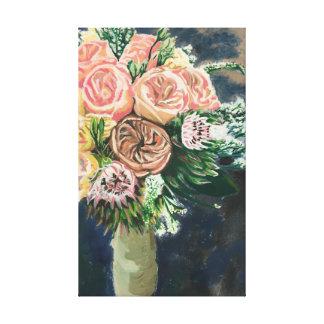 Toile Un d'une copie aimable de monotype de bouquet de