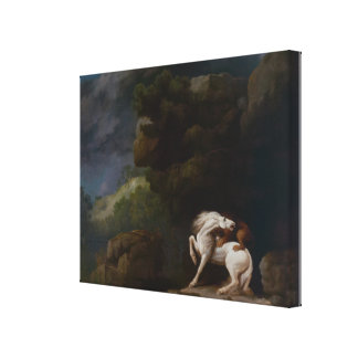 Toile Un lion attaquant un cheval par George Stubbs