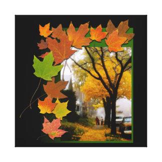 Toile Une journée agréable d'automne